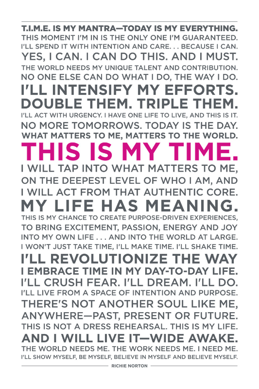 TIME Mantra-pink-Richie Norton